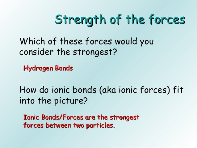 intermolecular bonding essay Free practice questions for ap chemistry - intermolecular forces methanol is not an ionic molecule and will not exhibit intermolecular ionic bonding.