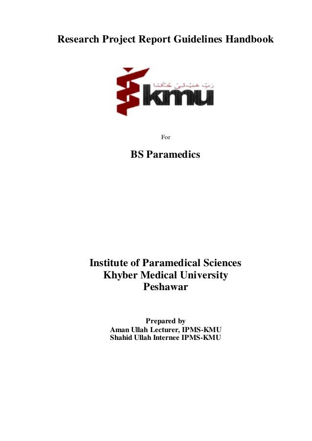 Kmu-Ipms Guidelines For Research Project Report Writing
