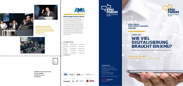 KMU FORUM WIRTSCHAFTSREGION AARGAU Mit Referaten von Olivier Kofler und Holger Greif (PwC Digital Services) Freitag, 31. M...