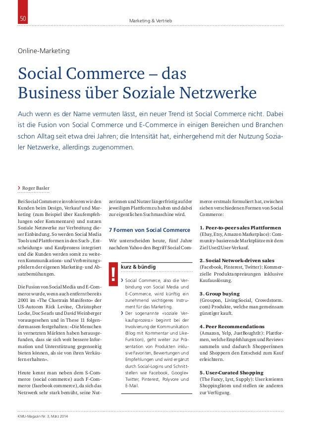 50  Marketing & Vertrieb  Online-Marketing  Social Commerce – das Business über Soziale Netzwerke Auch wenn es der Name ve...