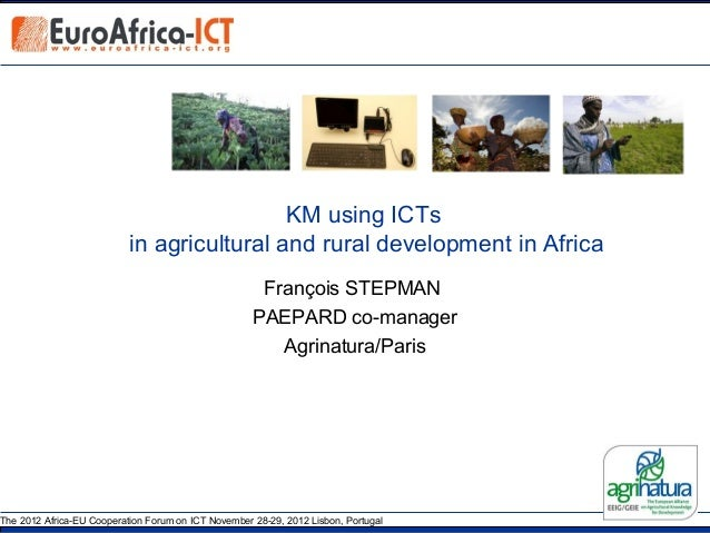KM using ICTs                           in agricultural and rural development in Africa                                   ...