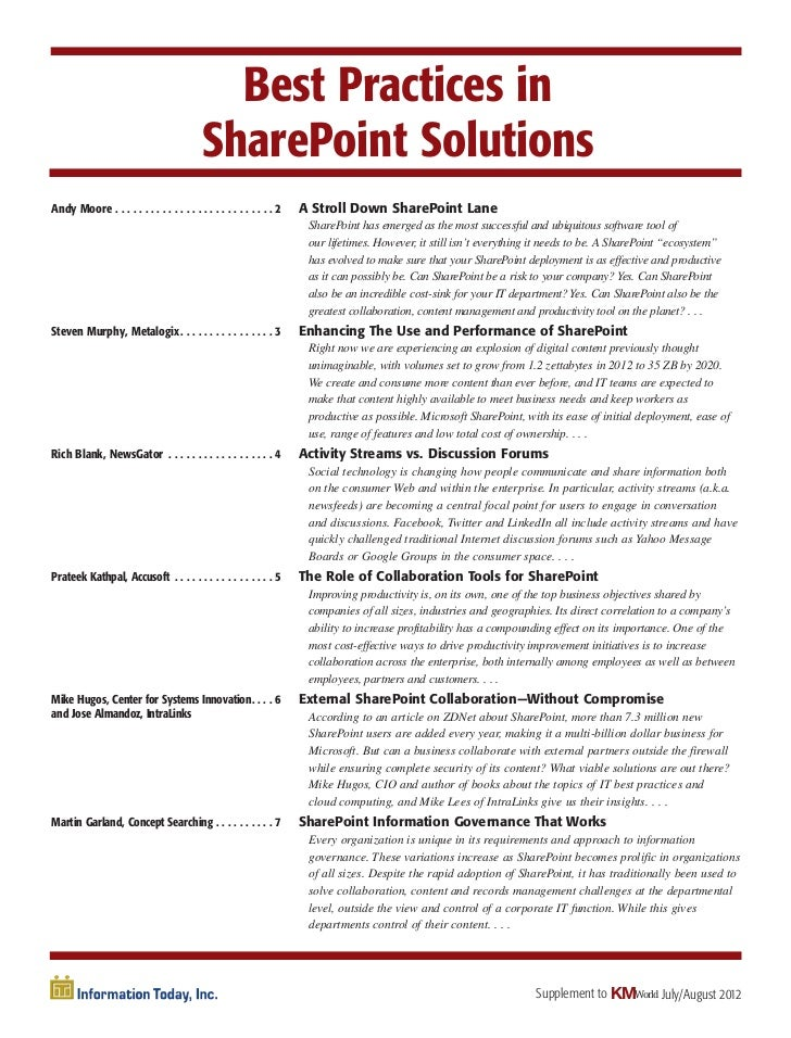 Best Practices in                                           SharePoint SolutionsAndy Moore . . . . . . . . . . . . . . . ....