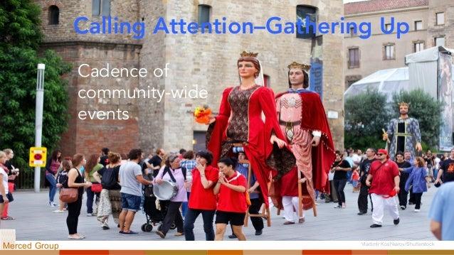 Calling Attention–Gathering Up Cadence of community-wide events Vladimir Koshkarov/Shutterstock Merced Group