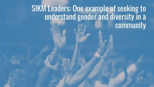 SIKM Leaders: One example of seeking to understand gender and diversity in a community