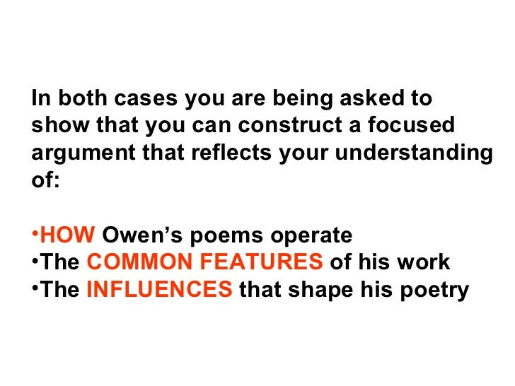 how does wilfred owen create sympathy Notes on wilfred owen's poems  if imaginativeness, if sympathy, if resonance of vowels, make poetry i have  does owen intend bear with him to mean sharing.