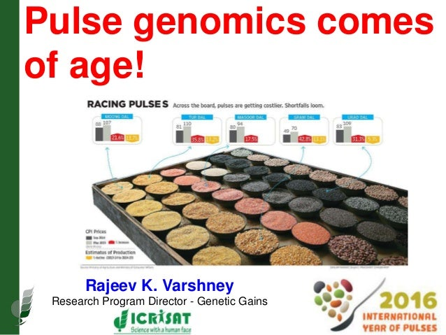 Pulse genomics comes of age! Rajeev K. Varshney Research Program Director - Genetic Gains