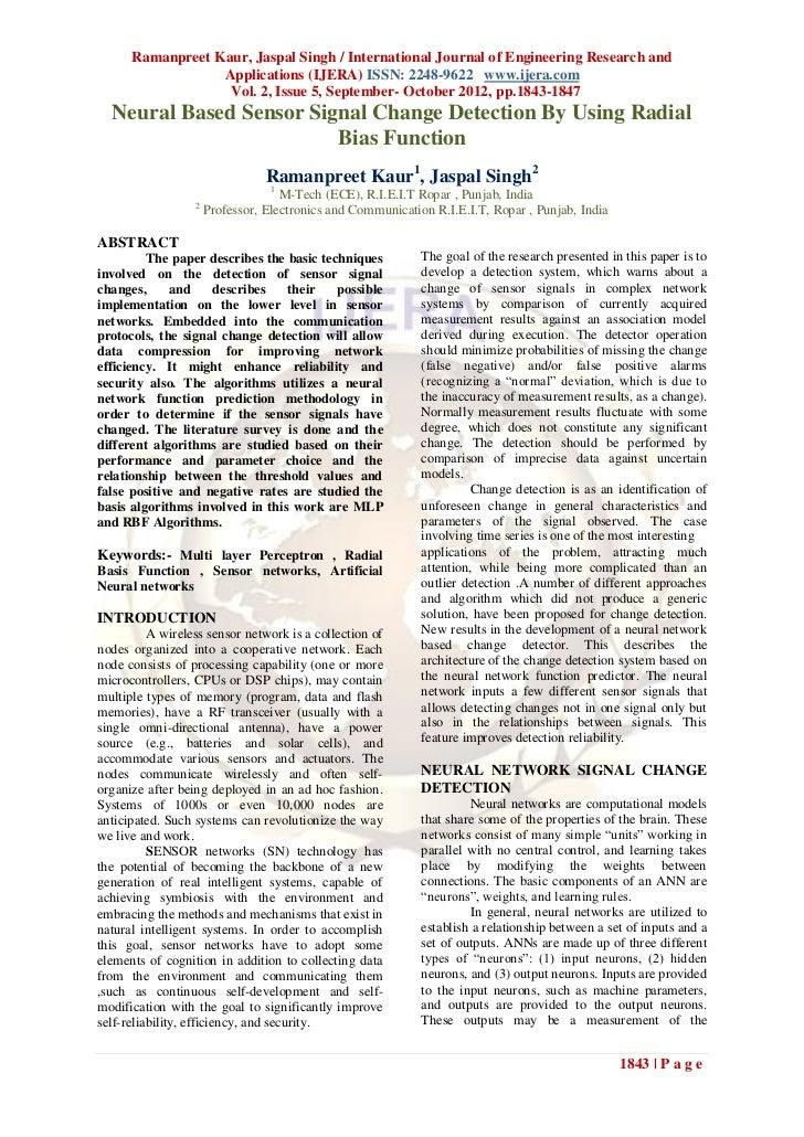 Ramanpreet Kaur, Jaspal Singh / International Journal of Engineering Research and                  Applications (IJERA) IS...