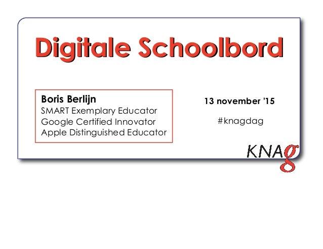 Boris Berlijn SMART Exemplary Educator Google Certified Innovator Apple Distinguished Educator Digitale SchoolbordDigitale...