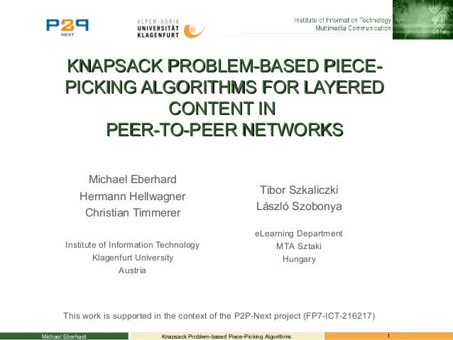 KNAPSACK PROBLEM-BASED PIECE-KNAPSACK PROBLEM-BASED PIECE- PICKING ALGORITHMS FOR LAYEREDPICKING ALGORITHMS FOR LAYERED CO...