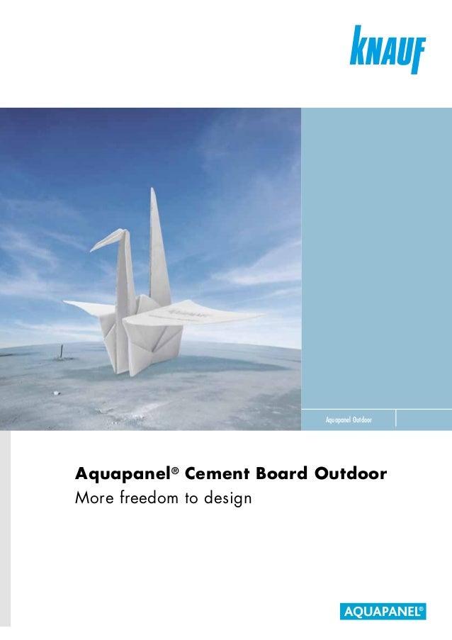 Knauf Aquapanel Cement Board Outdoor Brochure