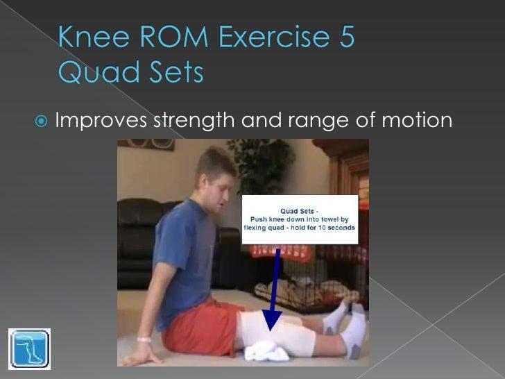 Knee Range Of Motion Exercises