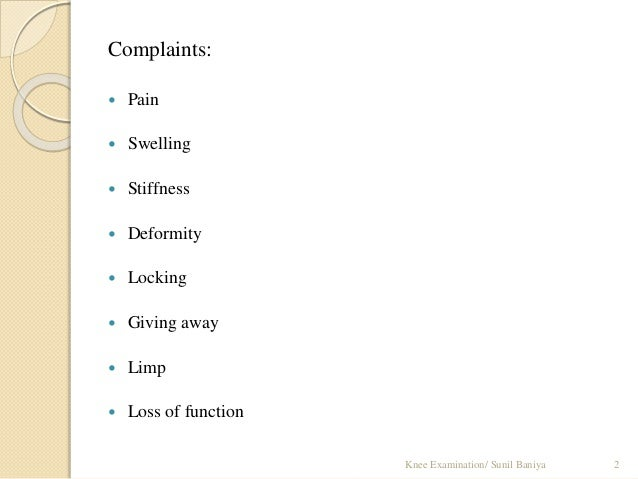 Knee examination Slide 2