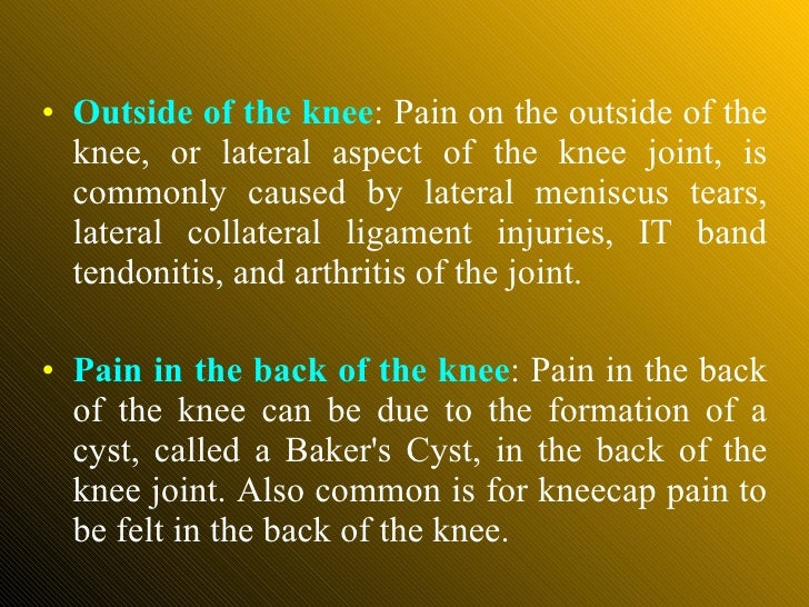 Knee for Exterior knee pain