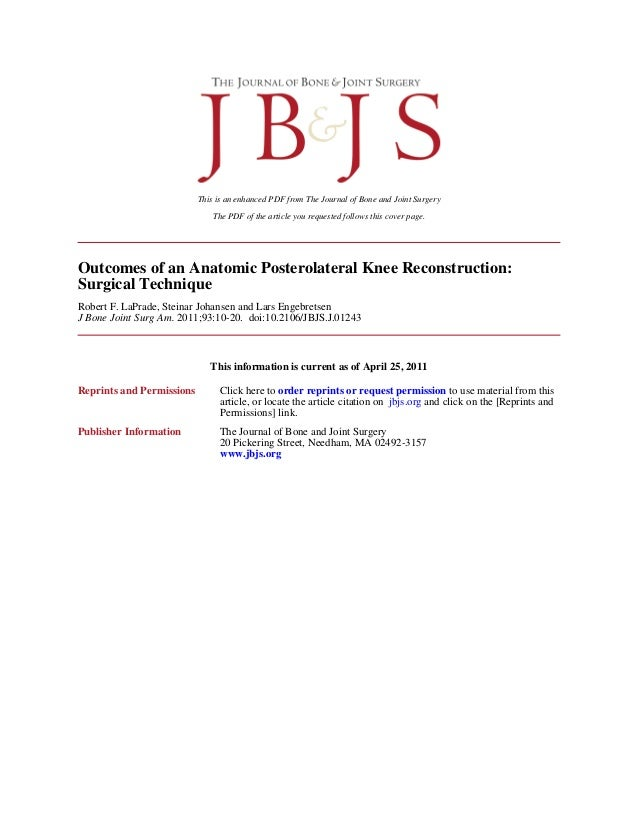 The PDF of the article you requested follows this cover page. This is an enhanced PDF from The Journal of Bone and Joint S...