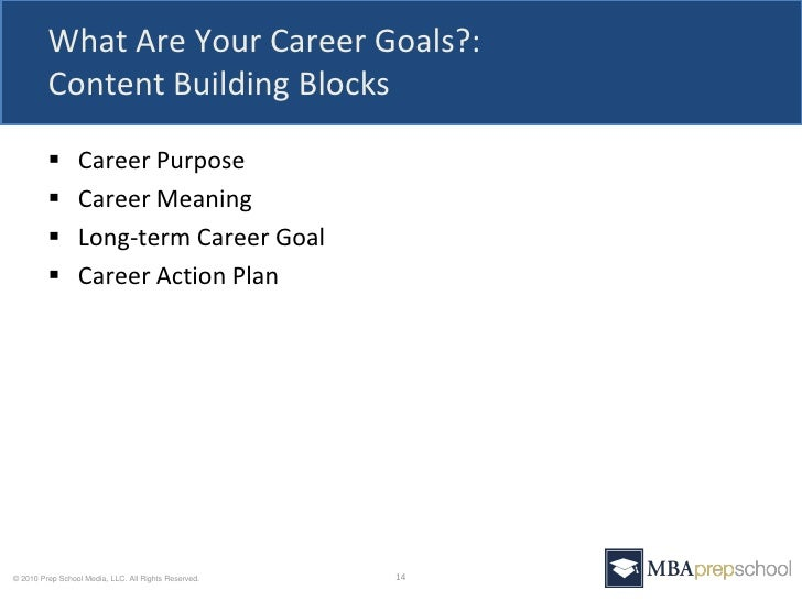 five questions you must answer in your mba application 13 15 what are your career goals