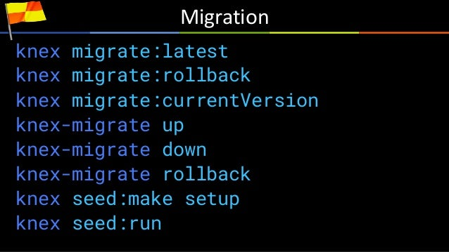Knex Postgresql Migration