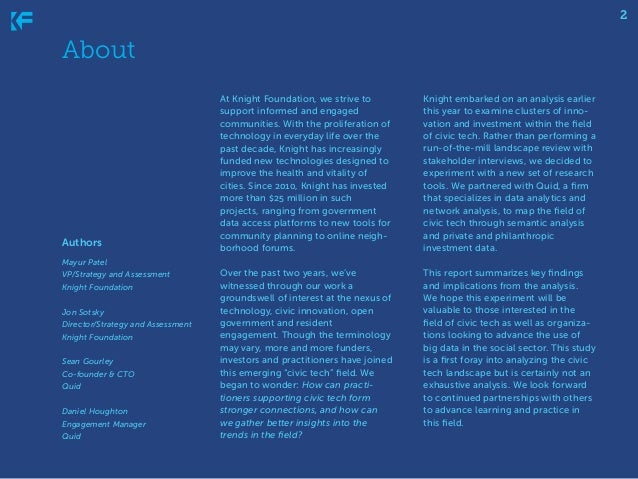 2  About  Authors  At Knight Foundation, we strive to support informed and engaged communities. With the proliferation of ...