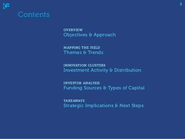 3  Contents   overview  Objectives & Approach  mapping the field  Themes & Trends  innovation clusters  Invest...