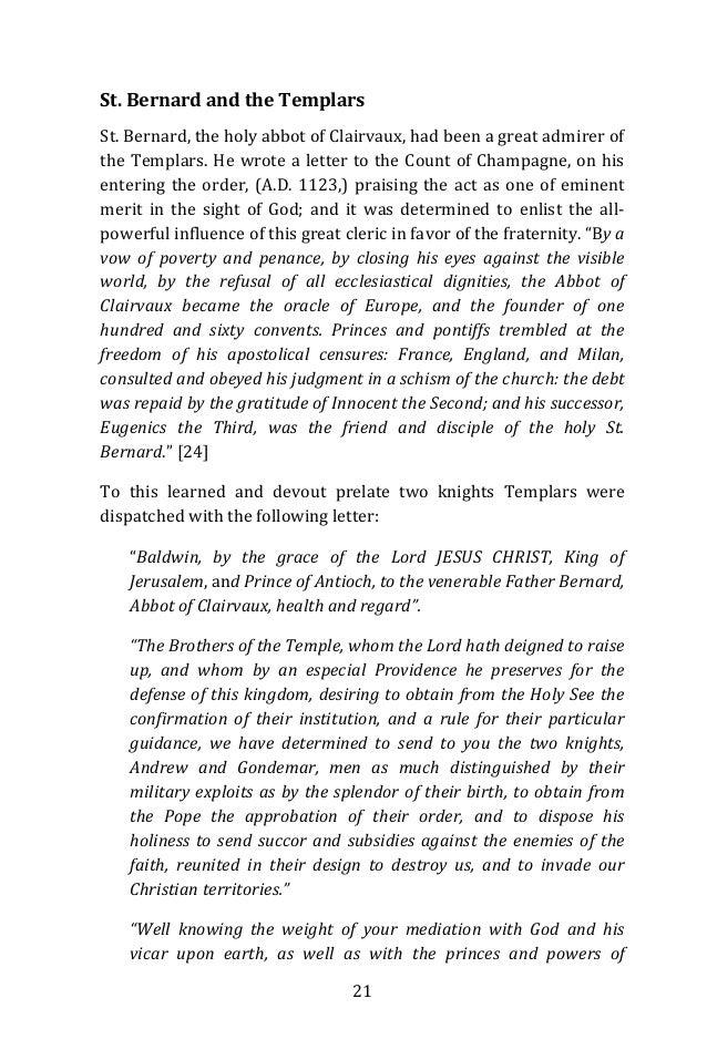 Essay on The Knights Templar