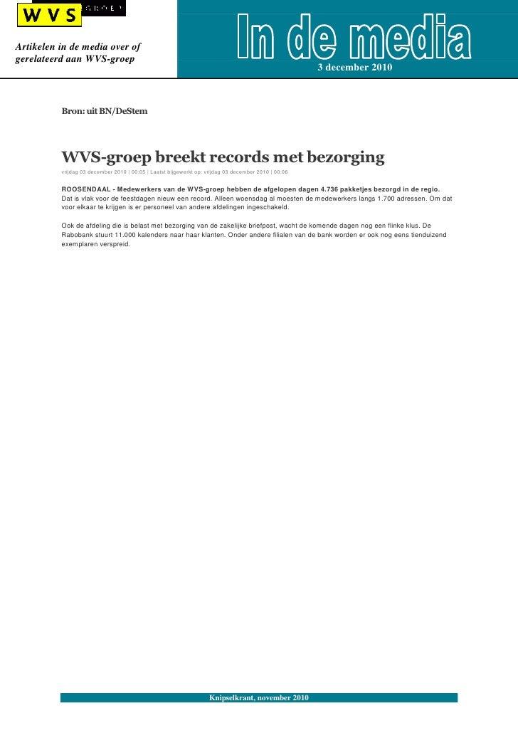 Artikelen in de media over ofgerelateerd aan WVS-groep                                                                    ...