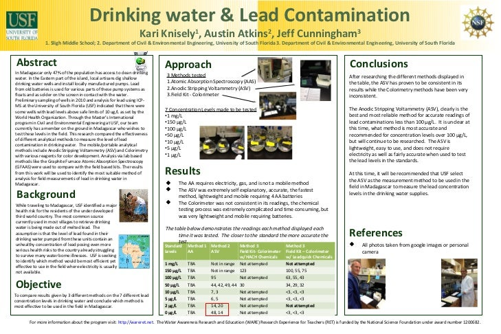 Drinking water & Lead Contamination                                                                   Kari Knisely , Austi...
