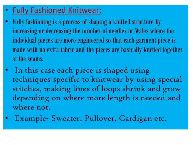 Fully Fashioned Knitting : Knit tech