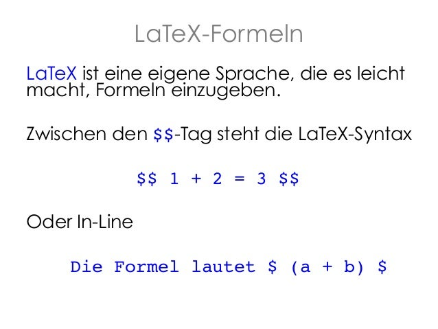 Knitr Formeln - R Slide 2