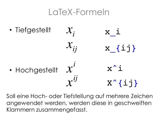 Knitr Formeln - R Slide 3