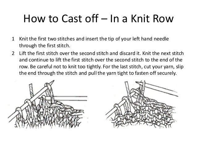 How To Cast Off Stitches When Knitting : Knitting basics
