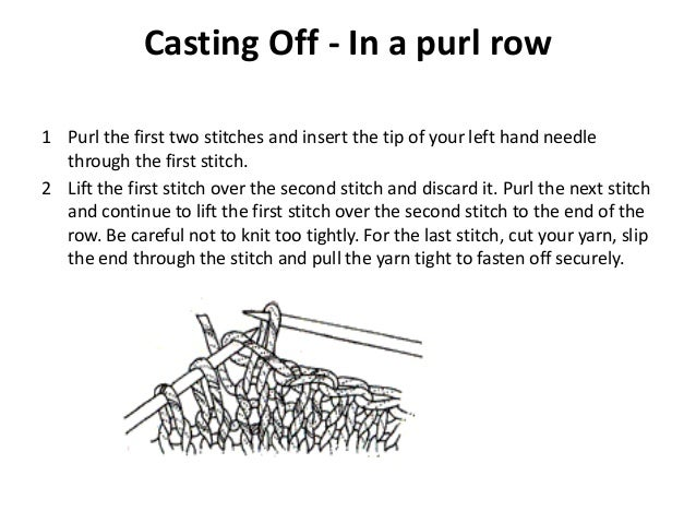 Knitting Casting Off Purl Stitch : Knitting basics