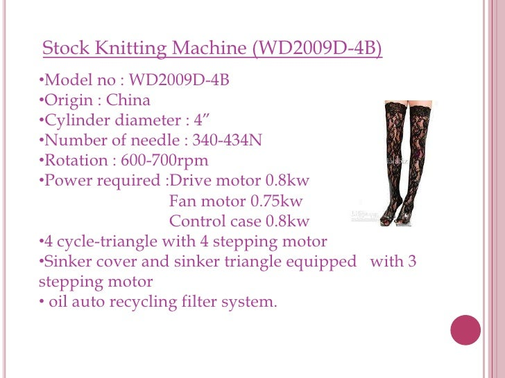Knitting Oil Specifications : Knitting machine