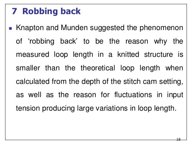 Knitting Loop Structure : Knitting science