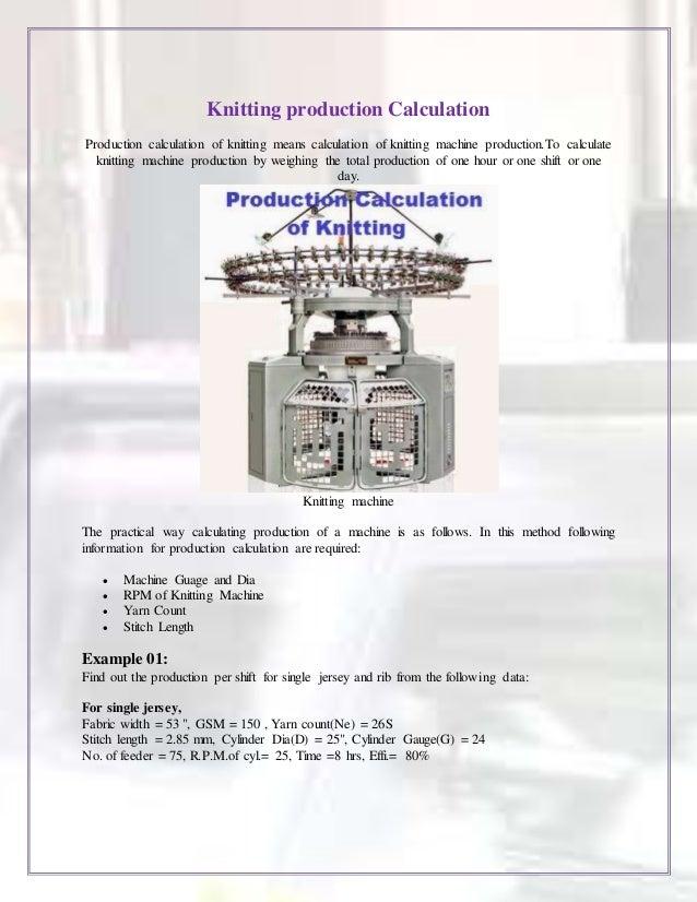 Knitting Gauge Definition : Knitting technology