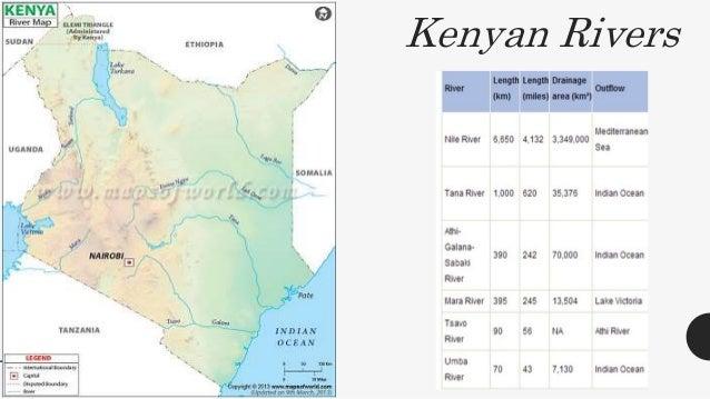 Kěnníyǎ About Kenya - Kenya rivers map