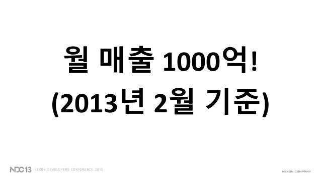 월 매출 1000억!(2013년 2월 기준)