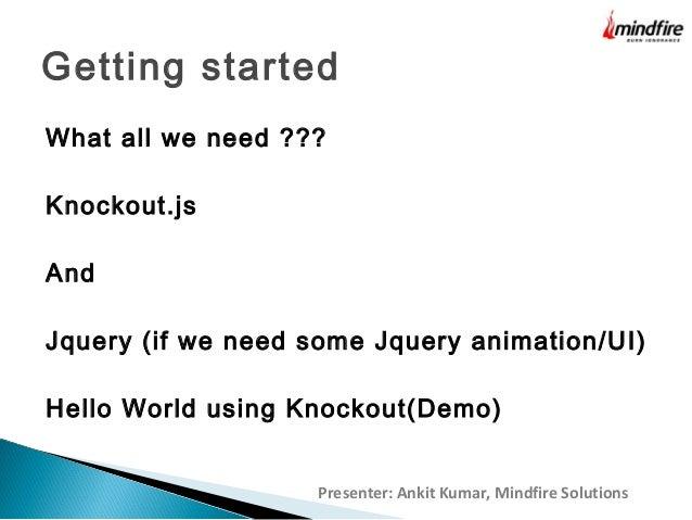 KnockoutJS Declarative options Binding KnockoutJS