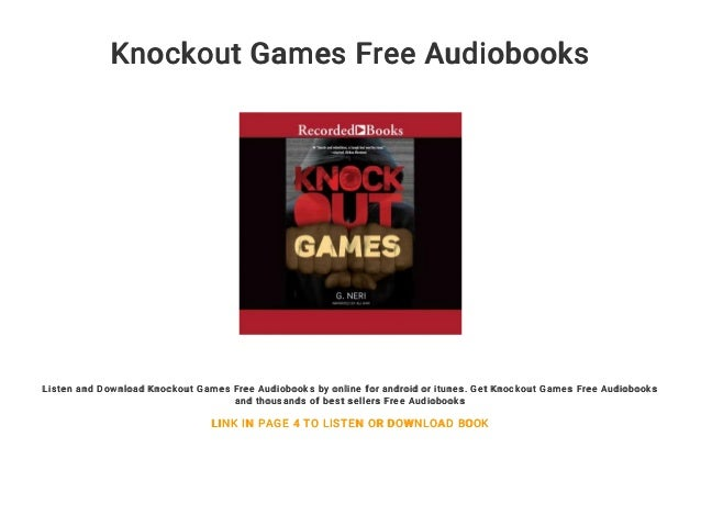 Knockout Games Free Audiobooks