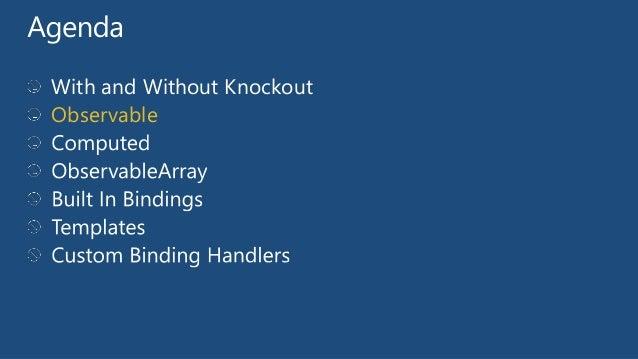 knockout template foreach - knockout js development a quick understanding