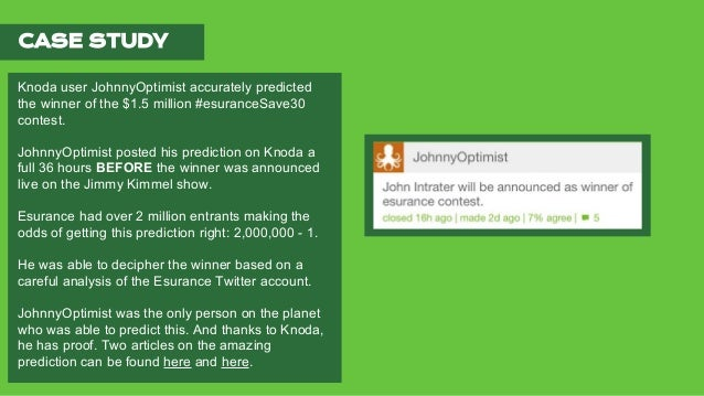 CURRENT EVENT PREDICTIONS ON KNODA