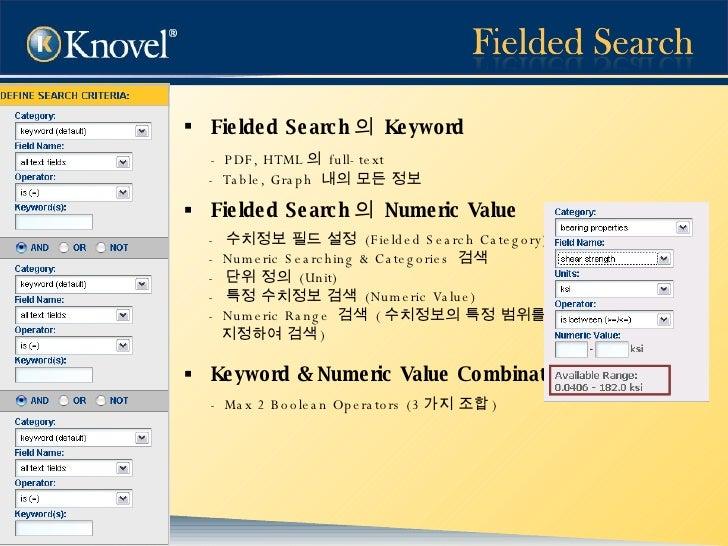 <ul><li>Fielded Search 의  Keyword  </li></ul><ul><li>- PDF, HTML 의  full-text  </li></ul><ul><li>- Table, Graph  내의 모든 정보 ...