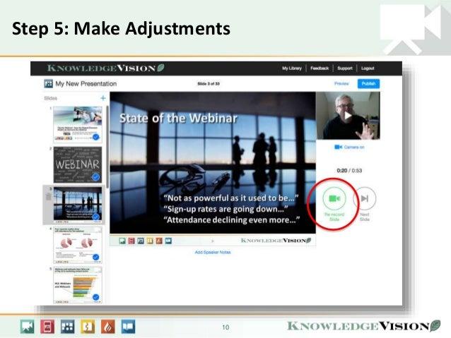 overview how to create a knovio online presentation