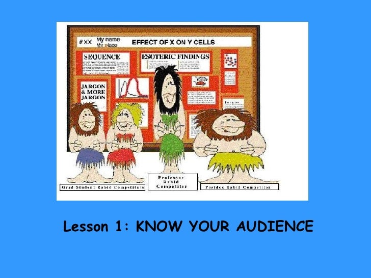 Lesson 1: KNOW YOUR AUDIENCE