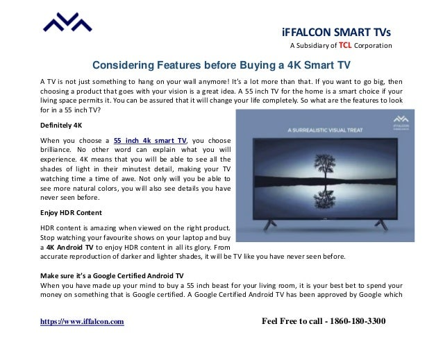 Know about Considering Features before buying a 4K Smart TV
