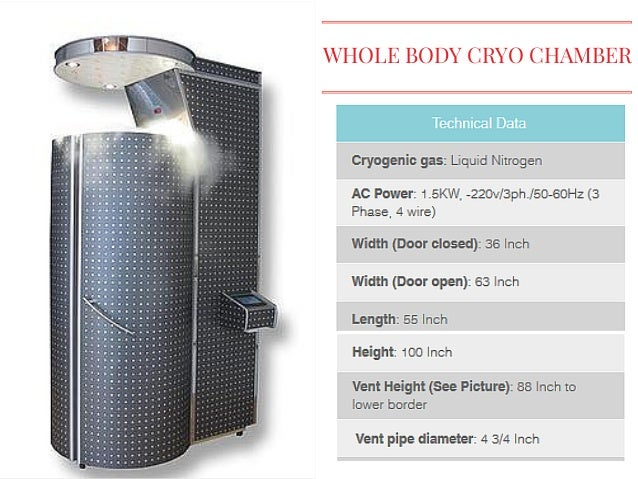 whole cryotherapy machine cost