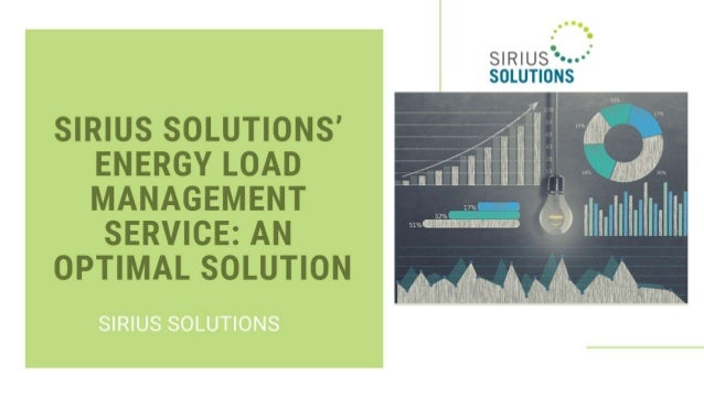 Know About Energy Load Management Service at  Sirius Solutions
