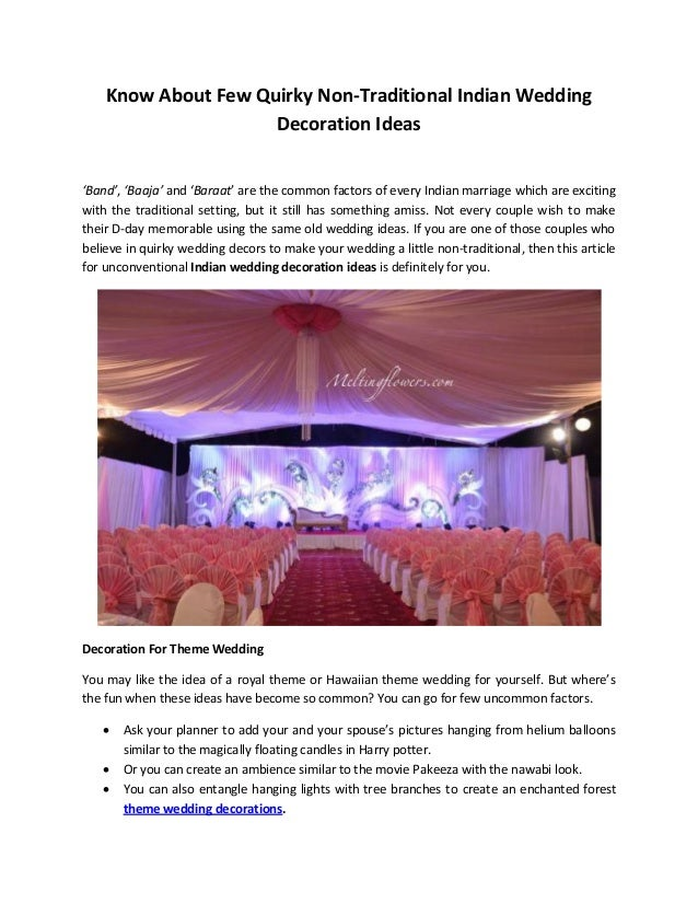 Know about few quirky non traditional indian wedding decoration ideas know about few quirky non traditional indian wedding decoration ideas band junglespirit Image collections