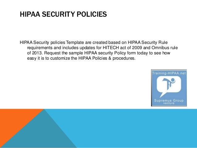 hipaa hitech policy templates - know about hipaa security policy training