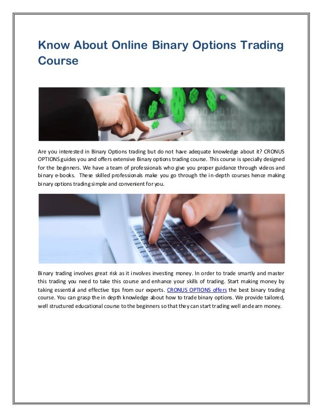 Online trading options course