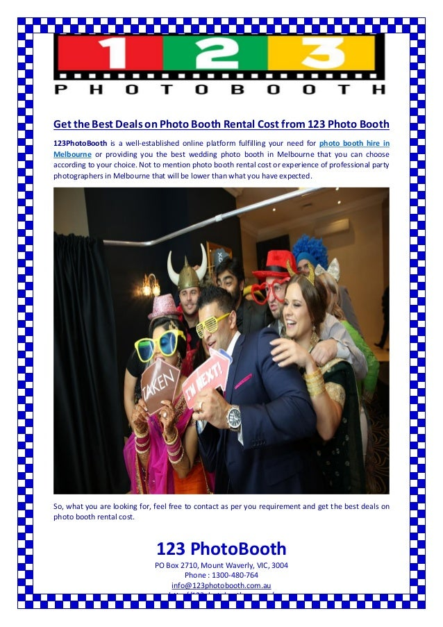 Know about photo booth rental cost in melbourne
