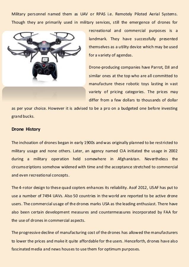 Know everything about drones Slide 2